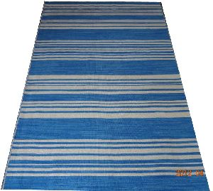 DSC02342 100% Wool Handloom Strip Durries