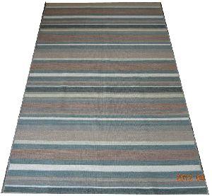 DSC02343 100% Wool Handloom Strip Durries