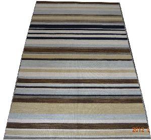 DSC02351 100% Wool Handloom Strip Durries