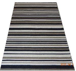 DSC02356 100% Wool Handloom Strip Durries
