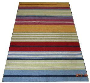 DSC02363 100% Wool Handloom Strip Durries