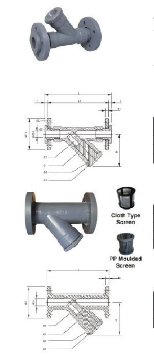 Flange End Pp Y Type Strainer