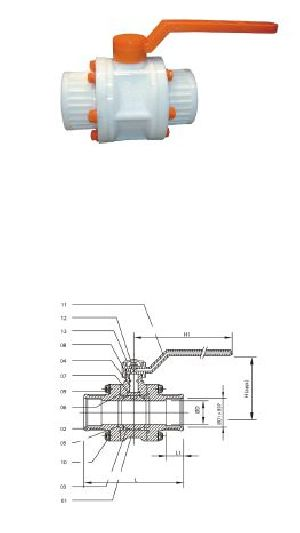 Screw End PP Ball Valve