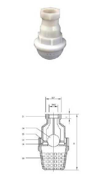 Screw End PP Foot Valve