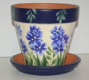 Clay Printed Flower Pots