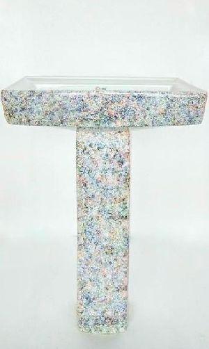 806-Square Pedestal Wash Basin