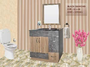 Black Diamond Bathroom Mirror Vanity