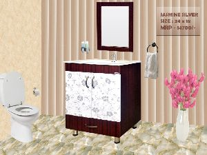 Jasmine Silver Bathroom Mirror Vanity