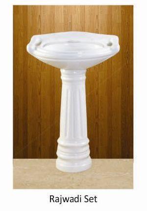 Rajwadi Set Plan Series Pedestal Wash Basin
