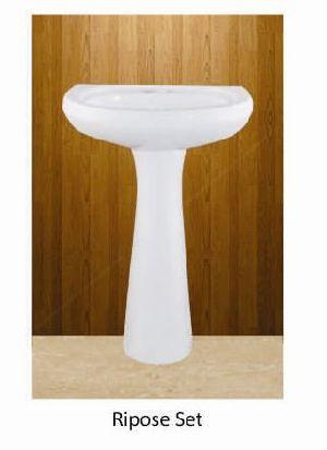 Ripose Set Plan Series Pedestal Wash Basin