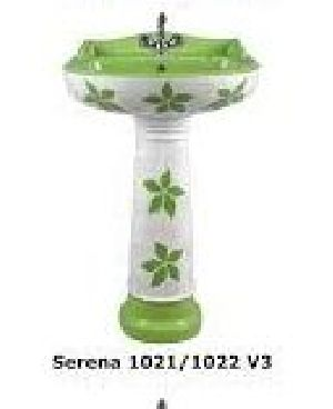Serena 1021-1022 V3 Ark & Craft Pedestal Wash Basin