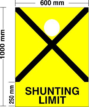 Railway Shunting limit Board