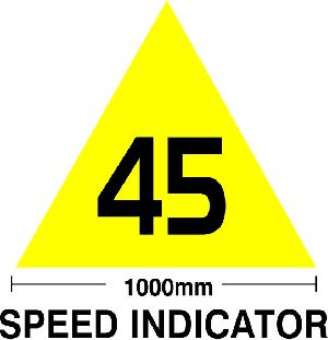 Railway Speed Indicator Board