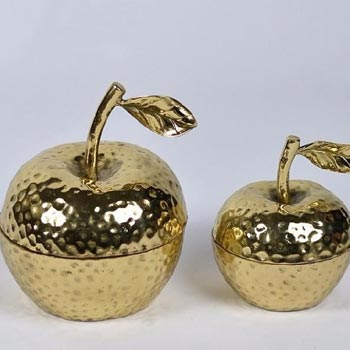 Brass Apple Shaped Jar