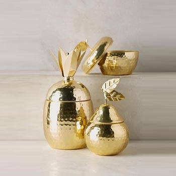 Brass Pear Shaped Jar