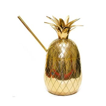 Brass Pineapple Mug 01