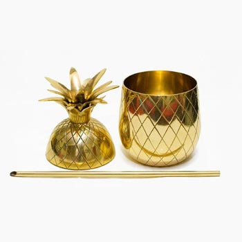 Brass Pineapple Mug 02