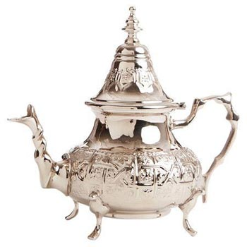 Brass Silver Finish Teapot