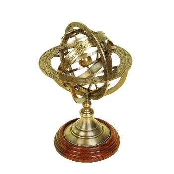 Brass Table Top Globe