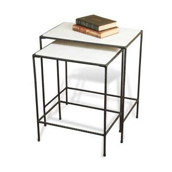 Iron Marble Nesting Tables