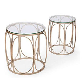 Accent Metal Nesting Drum Table