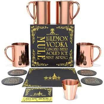 Moscow Mule Copper Mug Set (MWE- (32)4)