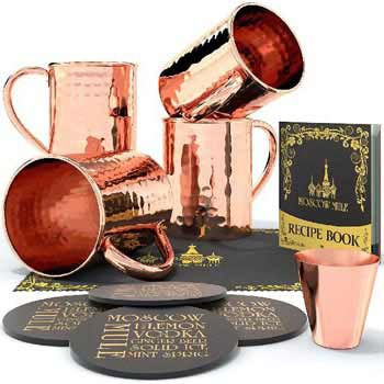 Moscow Mule Copper Mug Set (MWE- (32)5)