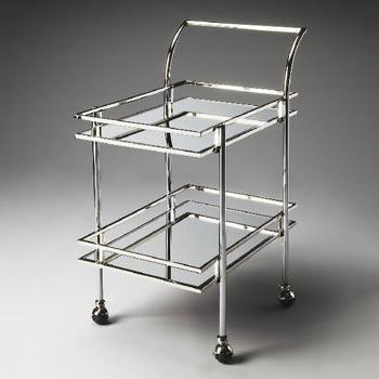 Silver Bar Cart