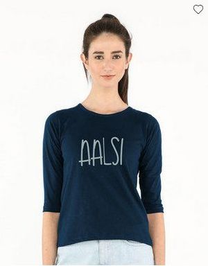 Aalsi Round Neck 3/4th T-Shirt