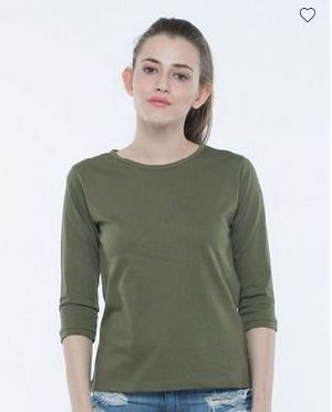 Army Green Round Neck T-Shirt