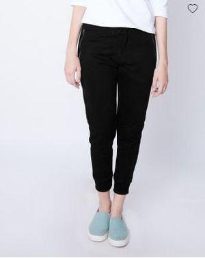 Black Zipper Fleece Joggers