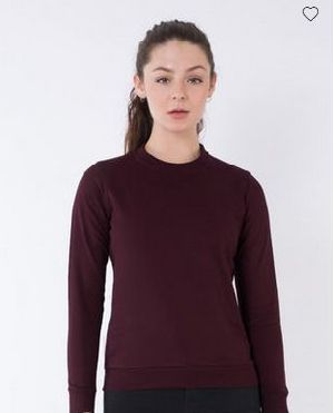 Burgundy Crew Neck Sweatshirt