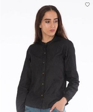Charcoal Black Denim Shirt
