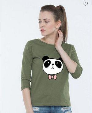 Dressy Panda Round Neck T-Shirt