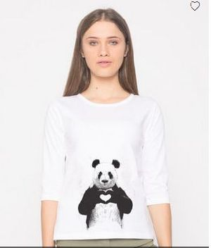 Panda Love Round Neck T-Shirt