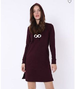 Infinity Fleece Hoodie Dress