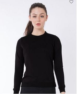 Jet Black Crew Neck Sweatshirt