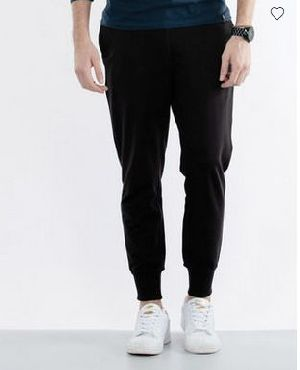 Jet Black Fleece Joggers