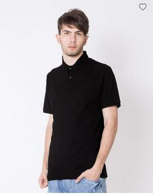 Jet Black Pique Polo T-Shirt