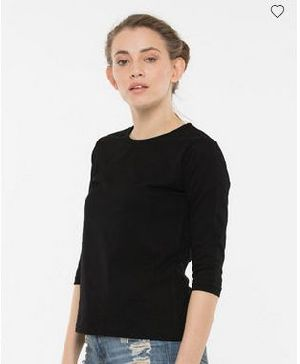 Jet Black Round Neck T-Shirt