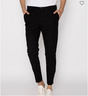 Jet Black Slim Oxford Pants
