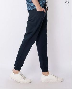 Navy Blue Round Pocket Jogger