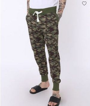 Outdoor Green Camouflage Jogger