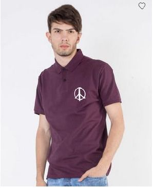 Peace Pique Polo T-Shirt
