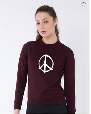 Peace Symbol Crew Neck Sweatshirt