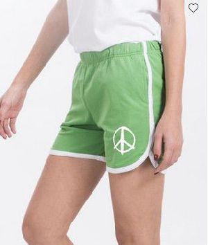 Peace Symbol Runner Fleece Shorts