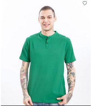 Peppermint Green Half Sleeve Henley T-Shirt