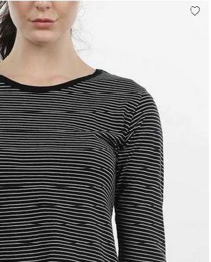 Pin Stripes Round Neck T-Shirt