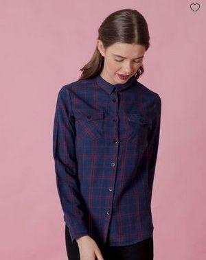 Scottish Blue Checked Shirt