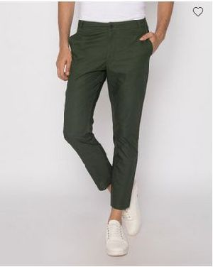 Seaweed Green Slim Oxford Pants